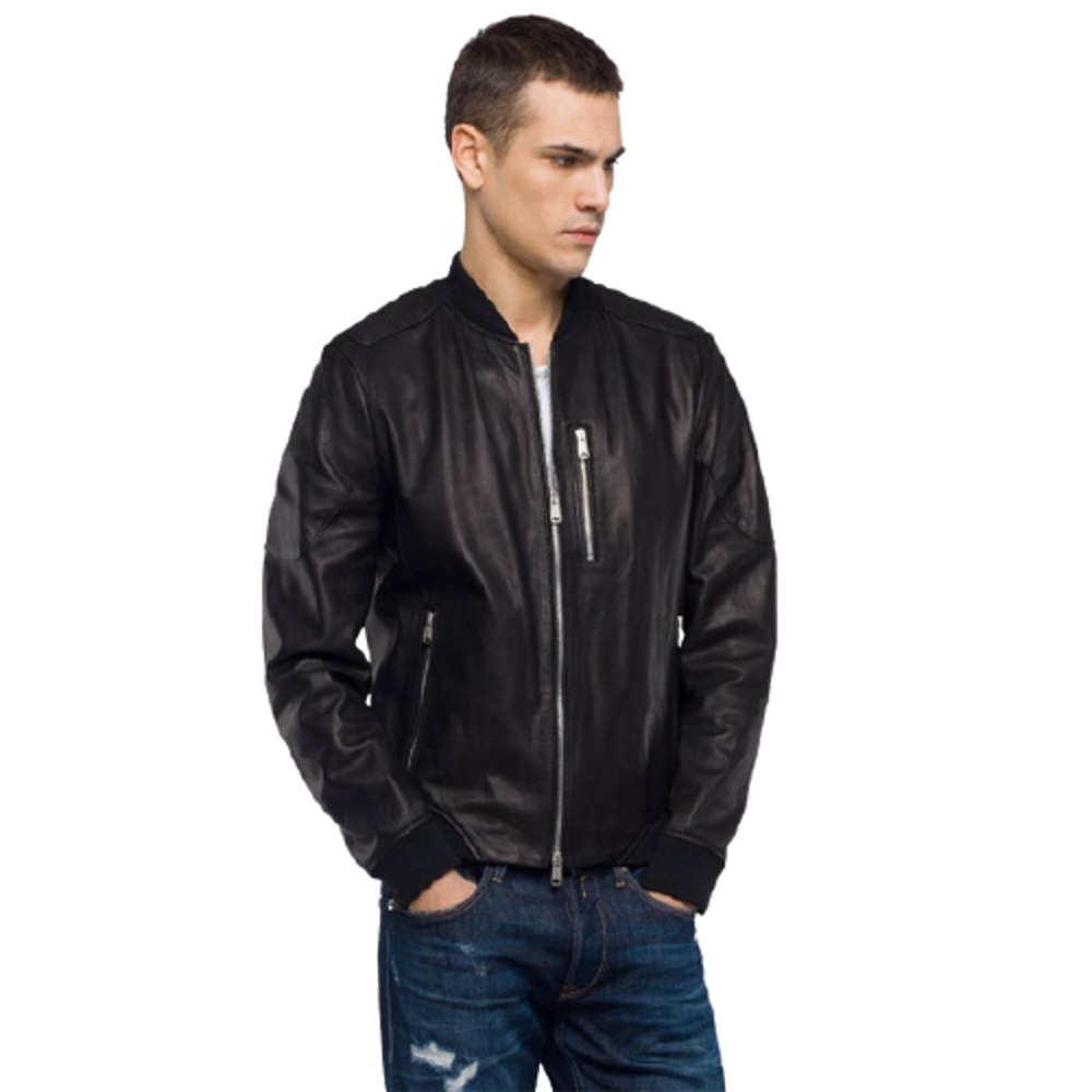 Replay Men's Jacket In Crust Leather