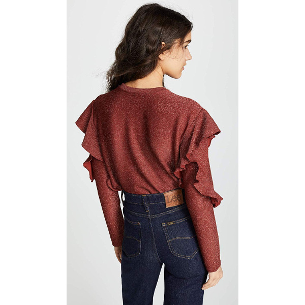 Scotch & Soda Lurex Ruffle Top