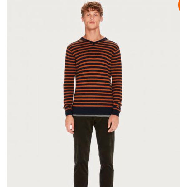 Scotch & Soda Men's Striped Pullover