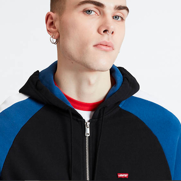 Levi's Pieced Fullzip Hoodie Multi Colour