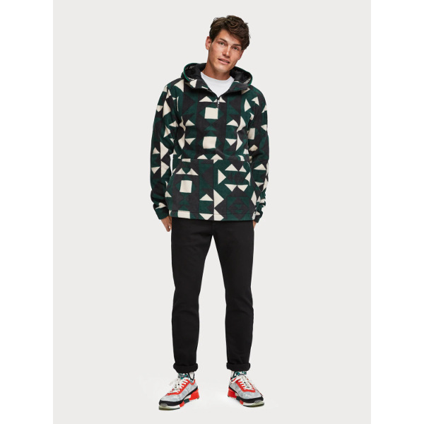 Scotch & Soda Geometric Fleece Hoodie