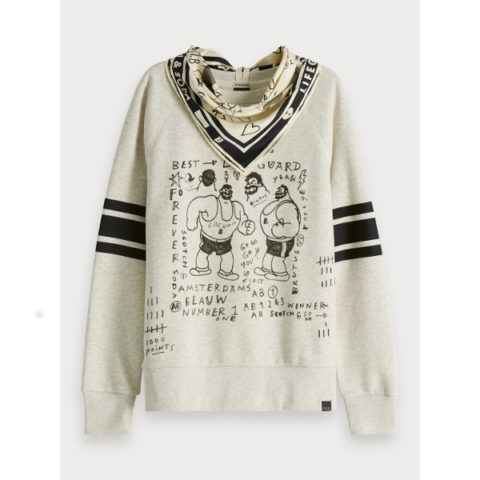 Scotch & Soda Women's Artwork Sweater Brutus