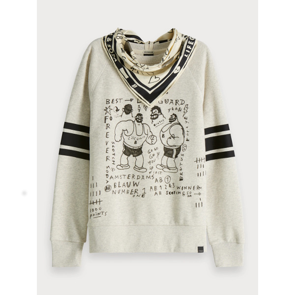 Scotch & Soda Women's Artwork Sweater Brutus