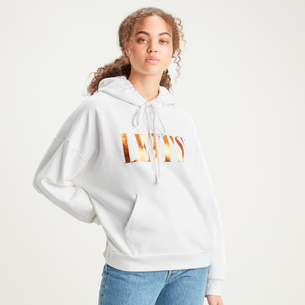 Levi's® Graphic 2020 Hoodie Tall Serif Foil-White+