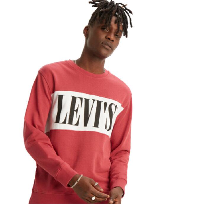 Levi's® Sweater Logo Colorblock Crew Men's
