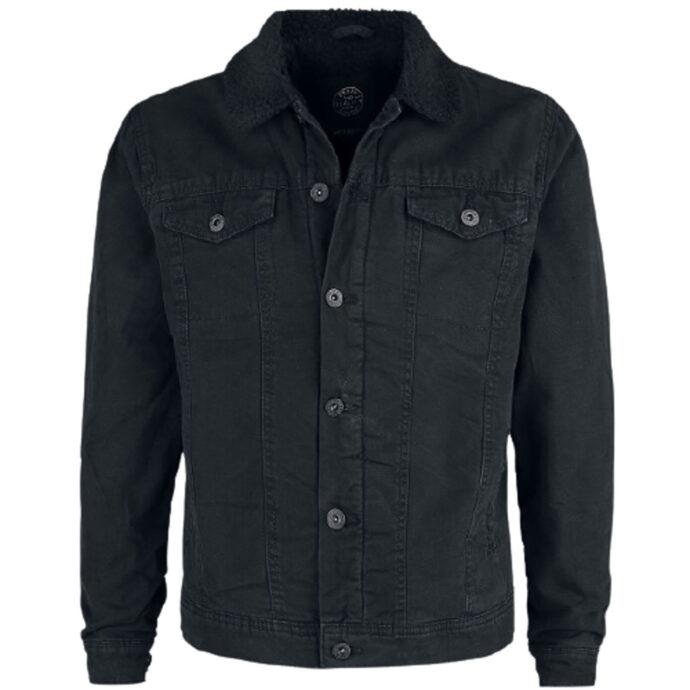 Shine Original Canvas Off-black Fur Jacket