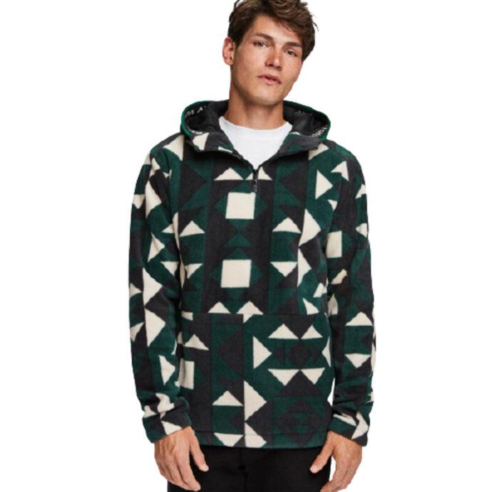 Scotch & Soda Geometric Fleece Hoodie