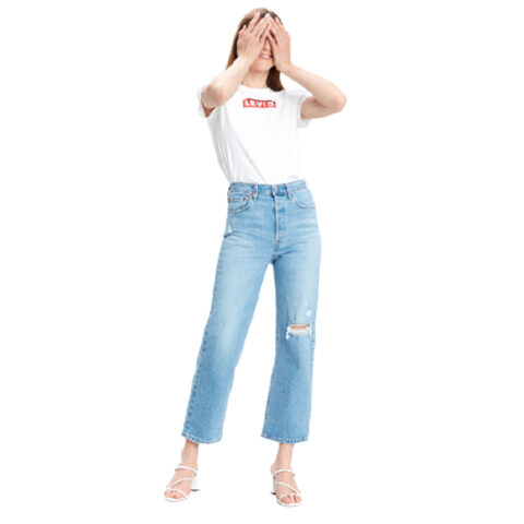 Levi's® Ribcage Straight Ankle Jeans
