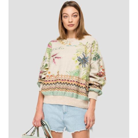 Replay Women's Sweatshirt With Lurex