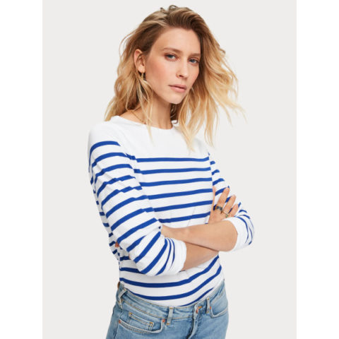 Scotch & Soda Classic Breton Stripe T-Shirt