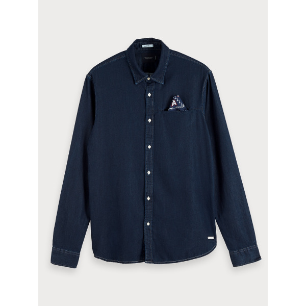 Scotch & Soda Denim Shirt Fixed Pocket