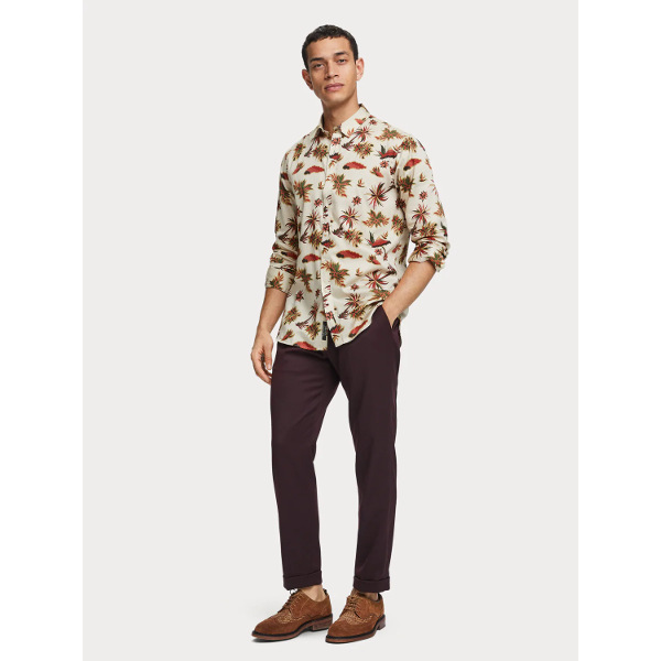Scotch & Soda Men's Island Print Shirt
