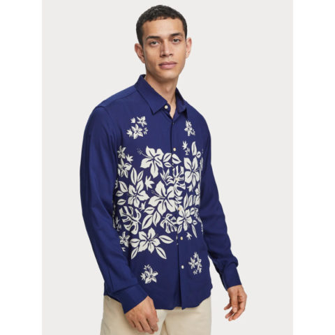 Scotch & Soda Shirt Floral Placement Print