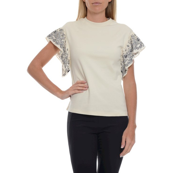 Scotch & Soda Ruffled Sleeve T-Shirt