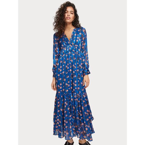 Scotch & Soda Floral-Print Chiffon Dress