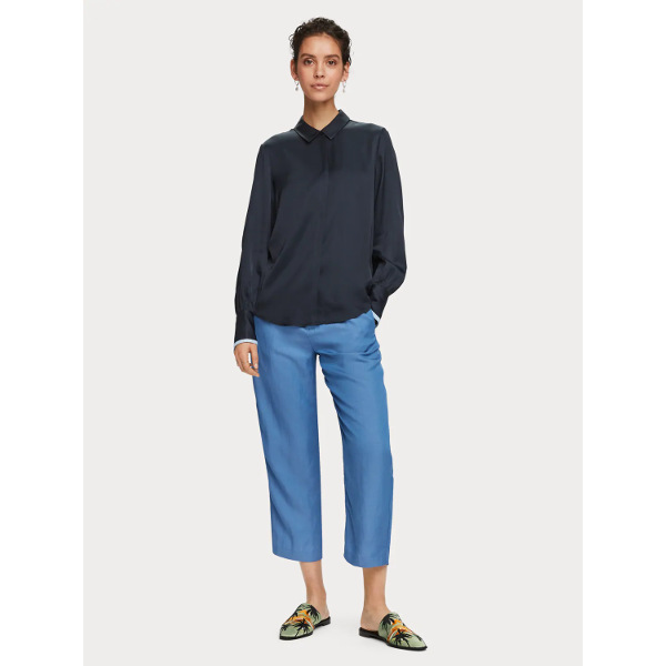 Scotch & Soda Women's Linen Blend Trousers