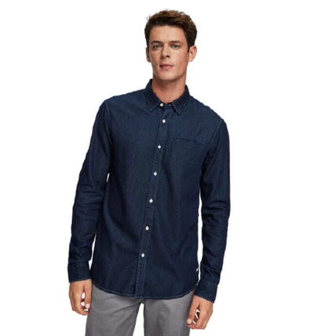Scotch & Soda Denim Shirt Fixed Pocket