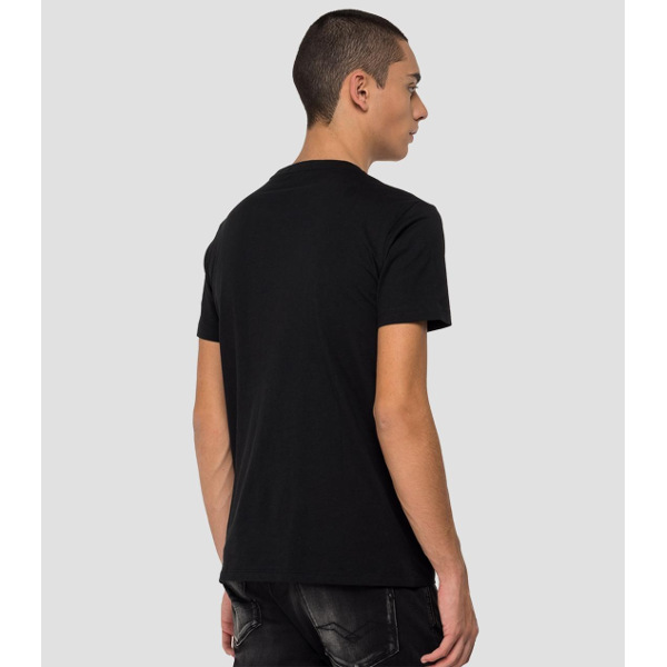 Replay Men's T-Shirt With Motorbike Print