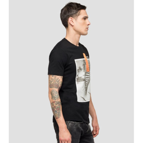 Replay Men's T-Shirt With Beach Print