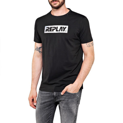 Replay Men's T-Shirt Logo Foil Print