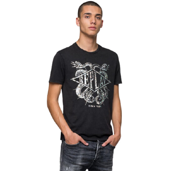 Replay Men's T-Shirt With Foil Print