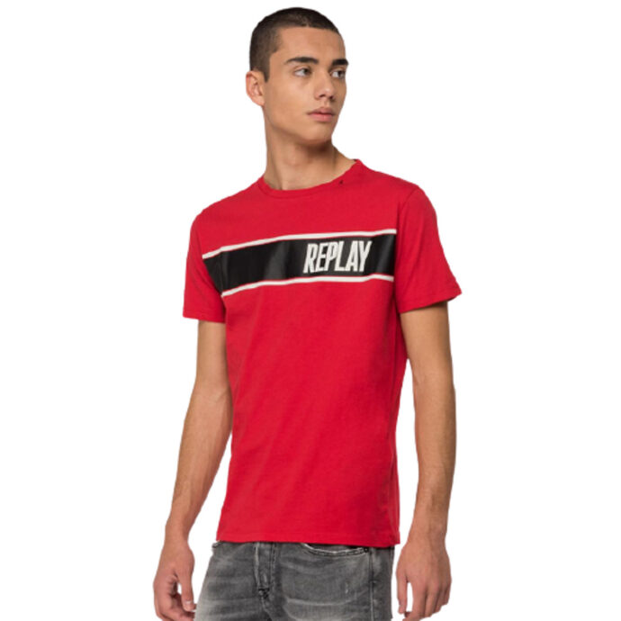 Men's Melange T-Shirt With Replay Print