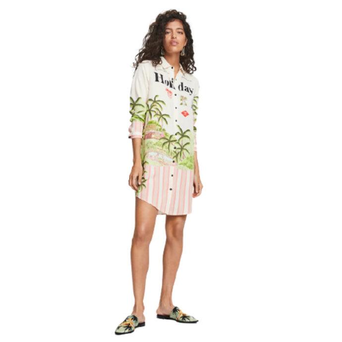 Scotch & Soda Holiday Print Shirt-Dress