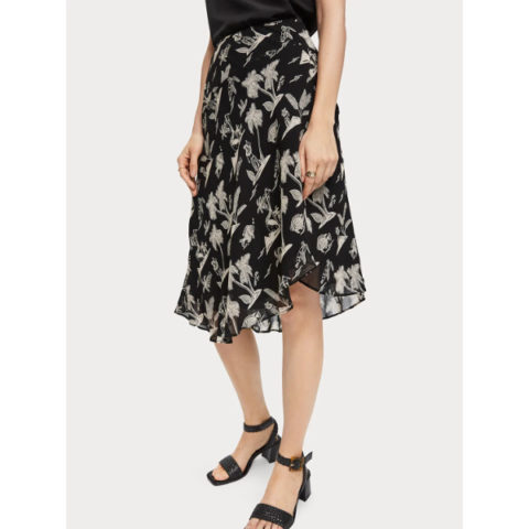 Scotch & Soda Printed Asymmetric Skirt