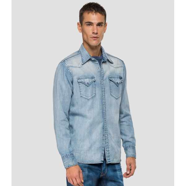 Replay Men's Faded Denim Shirt