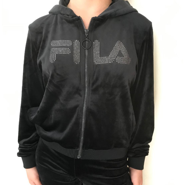 Fila Laurel Velour Diamante Zip Hoodie