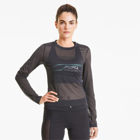 Puma Women's Evide Long/Sleeve Mesh Top