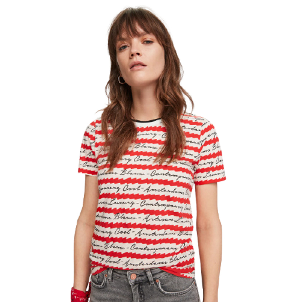 Scotch & Soda All-Over Printed T-Shirt Red