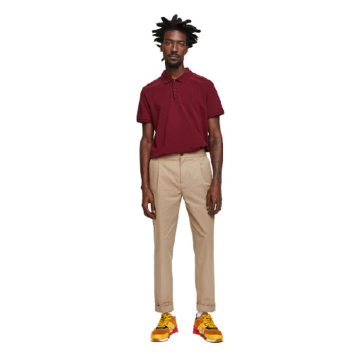 Scotch & Soda Classic Pique Polo Bordeaux