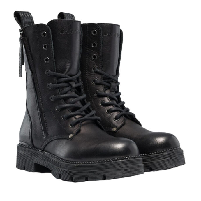 Replay Women's Standing Lace-Up Leather Boots