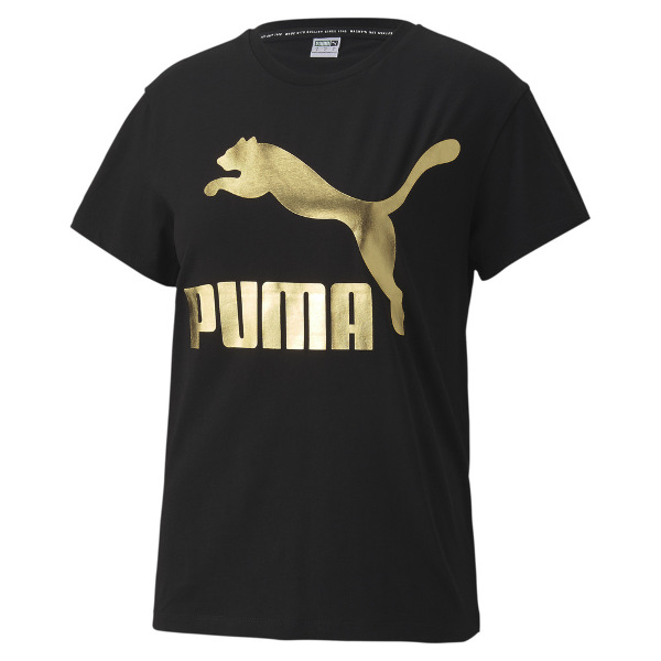 Puma Women's Classic Logo Tee Gold