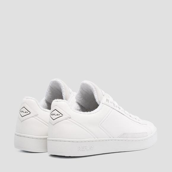 Replay Men's Basic Lace-Up Leather Sneakers