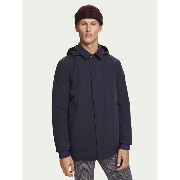 Scotch & Soda Men's Stretch parka jacket
