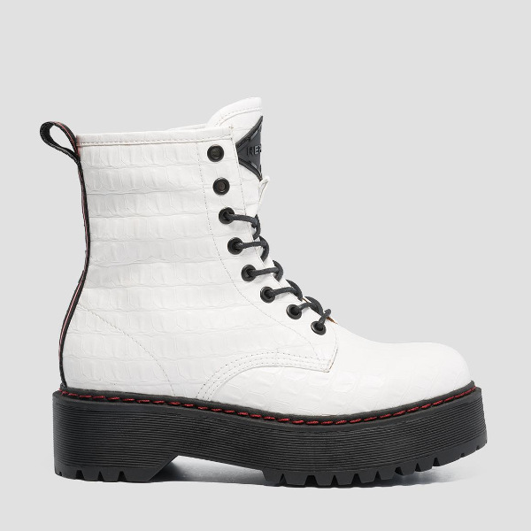 Replay Women's Sibel Lace-Up Ankleboots White