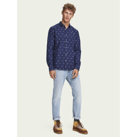 Scotch & Soda Embroidered chic pocket shirt