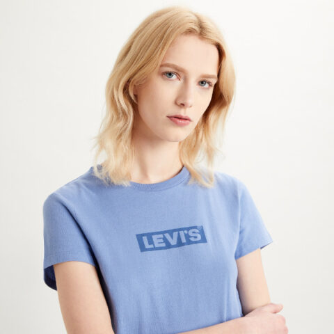 Levi's® The Perfect Tee-Tonal Box Tab Colony-Blue