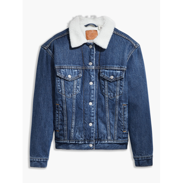 Levi's® EX-BF Sherpa Trucker-Rough And Tumble