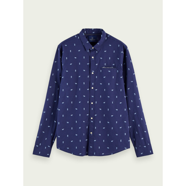 Scotch & Soda Embroidered chic pocket shirt