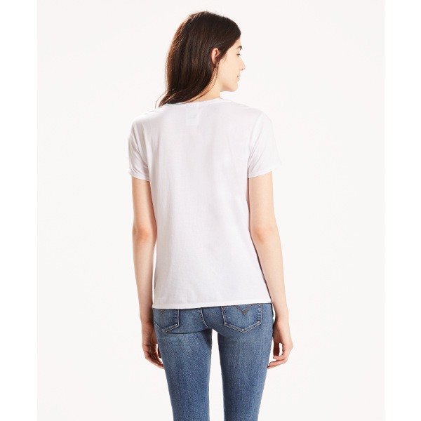 Levi's® The Perfect Graphic-Tee Large-Batwing White-White
