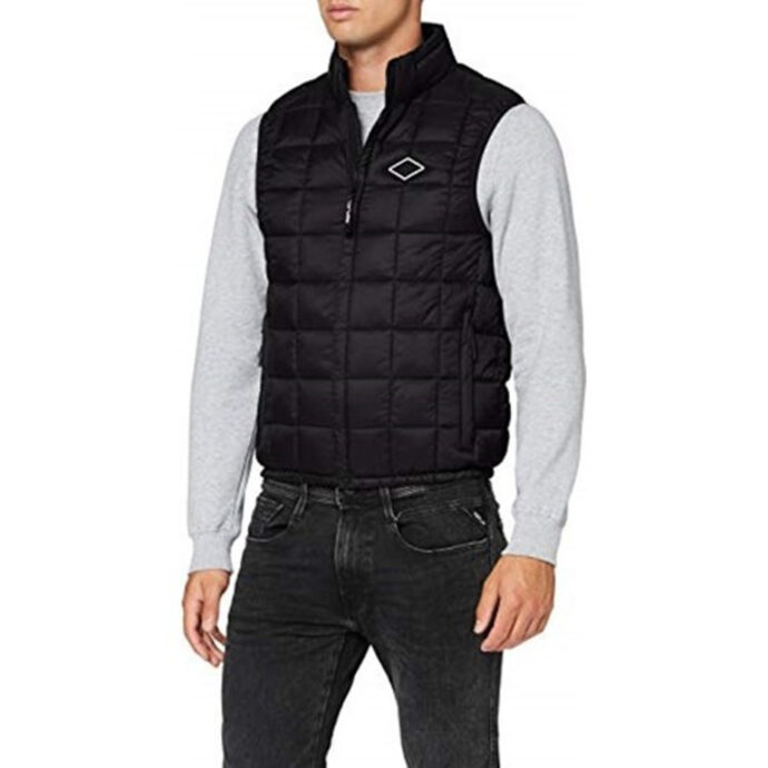 Replay Men's Recycled Nylon Vest Black