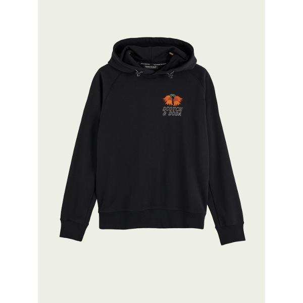 Scotch & Soda Cotton long sleeve hoodie