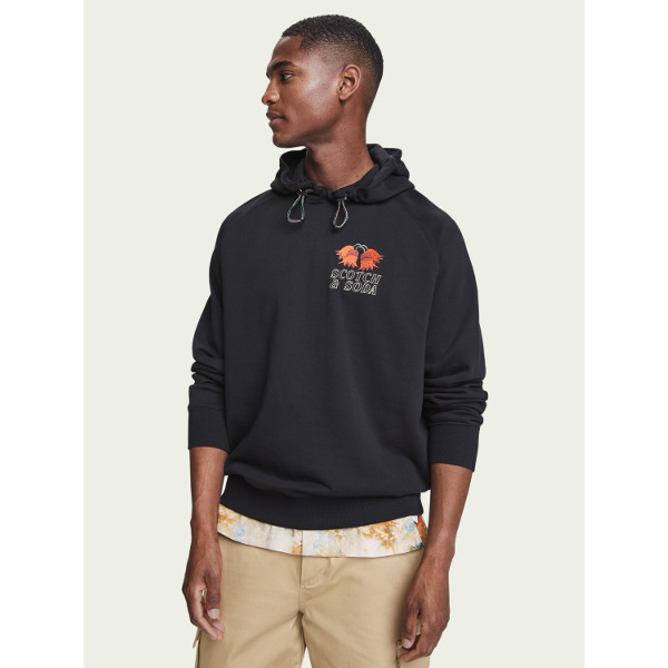 Scotch & Soda Cotton long sleeve hoodie
