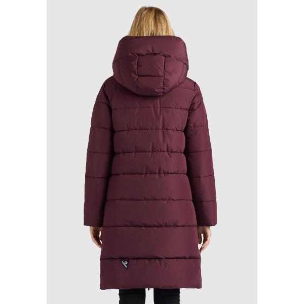 Khujo Women's Quilted Jacket Jilias Burgundy