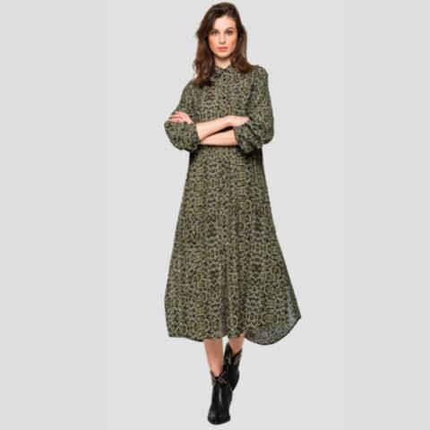 Replay Women's Long Dress Python Print