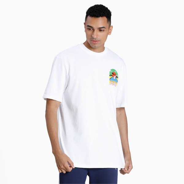 Puma Men's Downtown Graphic Tee White