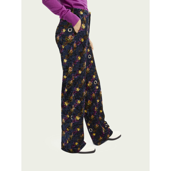 Scotch & Soda Tailored Wide-Leg Velvet Pants
